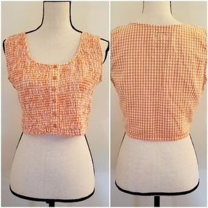 At Last | Vintage gingham crop top